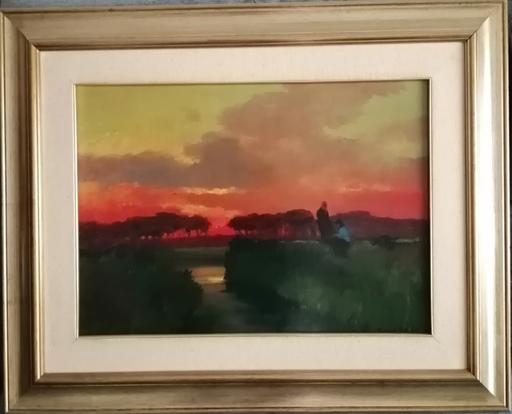 Renato NATALI - Gemälde - Tombolo al tramonto