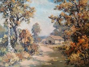 Edmond Amédée MELOT - Pintura - Chemin en Provence