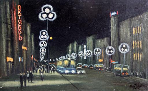 """Valeriy NESTEROV - Pintura - """"Octiabr"""" cinema. Leningrad"""