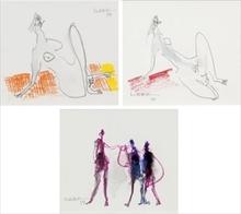 Manabu MABE - Drawing-Watercolor - Work/ Work/ Work