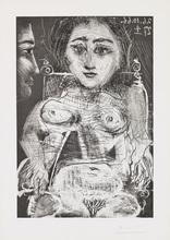 Pablo PICASSO (1881-1973) - Portrait de Jacqueline au Fauteuil