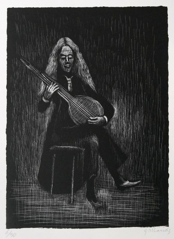 Gerhard MARCKS - Estampe-Multiple - Gitarrenspieler