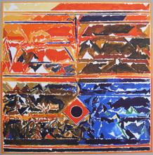 赛意德‧海德尔‧拉扎 - 版画 - Symboles 6