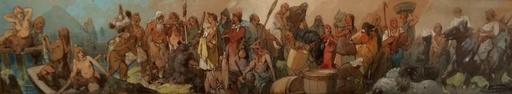Nikolai Nikolaevich KARAZIN - Disegno Acquarello - The History of the Trade