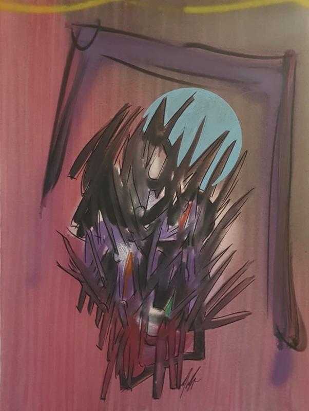Sergio DANGELO - Painting - Le bouquet de Mata Hary