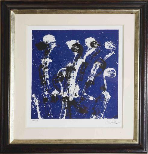 Fernandez ARMAN - Grabado - Manches de Violons Bleus