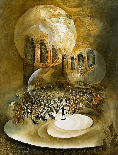 Roger SURAUD - Painting - ORCHESTRE
