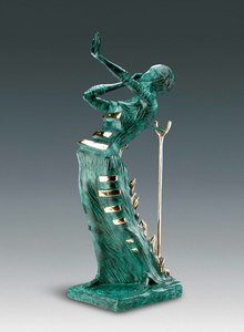 Salvador DALI - Sculpture-Volume - Woman Aflame, Femme en flammes