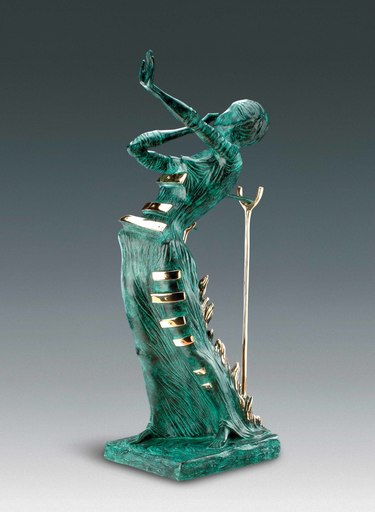 Salvador DALI - Sculpture-Volume - Woman Aflame, Femme en flammes