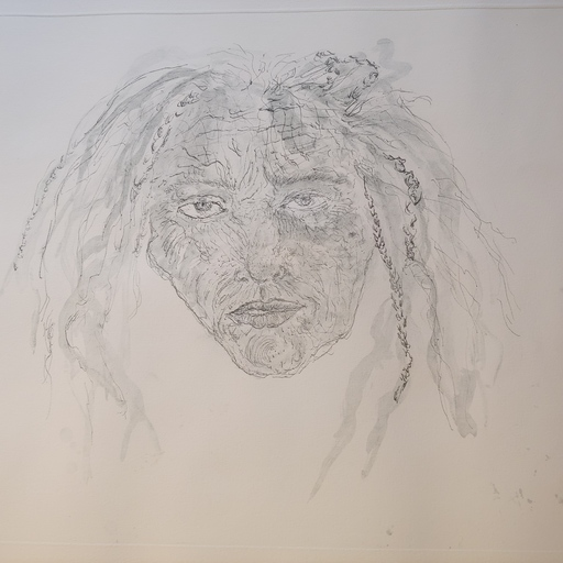 Kiki SMITH - Grabado - 1st State Self Portrait