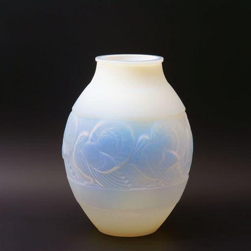 Marius Ernest SABINO - Vase aux dindons
