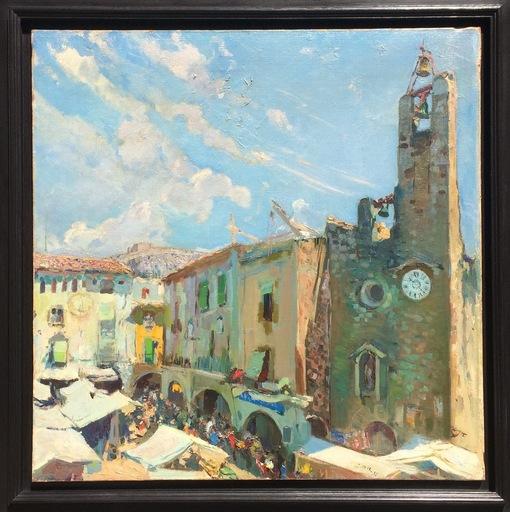 Joaquín MIR Y TRINXET - Painting - Torroella de Montgrí