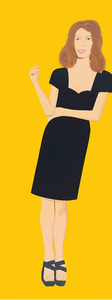 Alex KATZ - Grabado - Cecily (from Black Dress series)