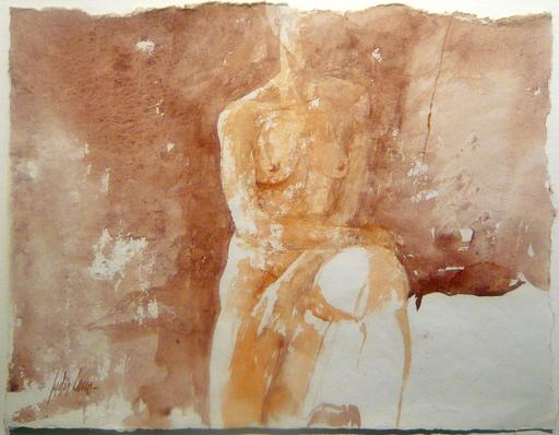 Pedro CANO - Zeichnung Aquarell - Nudo