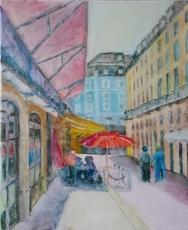 Ewa WITKOWSKA - Pintura - On a street in Lisbon
