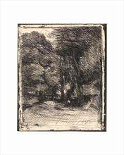 Camille Jean-Baptiste COROT - Stampa Multiplo - Souvenir du Bas-Bréau