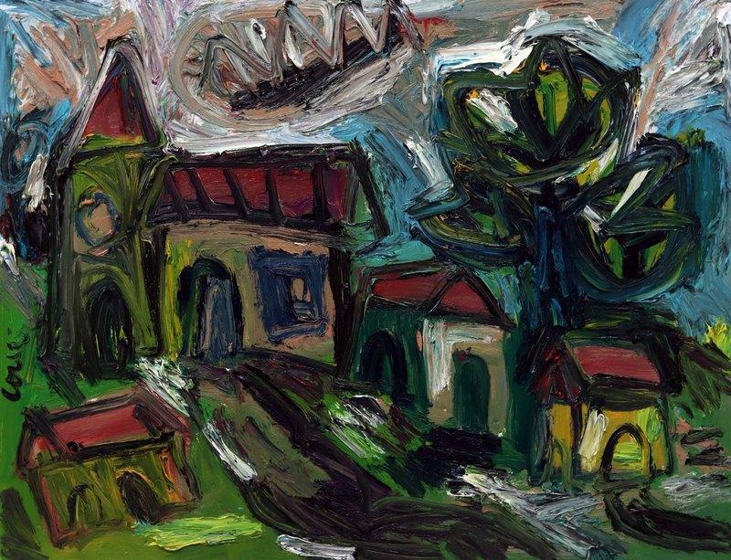 Thierry LOULÉ - Peinture - Paysage en tourmente