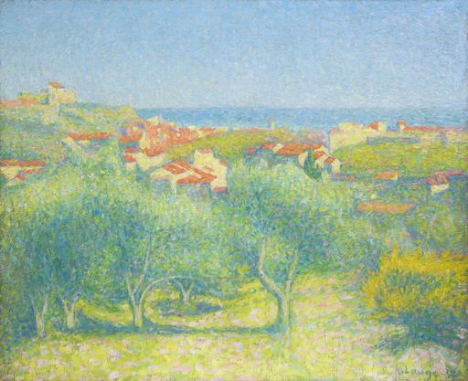 """Achille LAUGÉ - Pittura -  """"Vue de Collioure"""