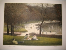 Harold ALTMAN - Grabado - Le parc,1989.