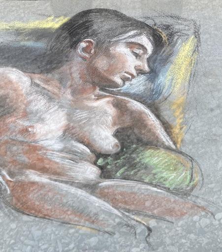 Odette LEPELTIER - Zeichnung Aquarell - Nu