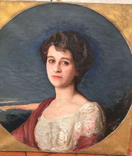 Gonzalo BILBAO MARTINEZ - Painting - Retrato de Maria Soto