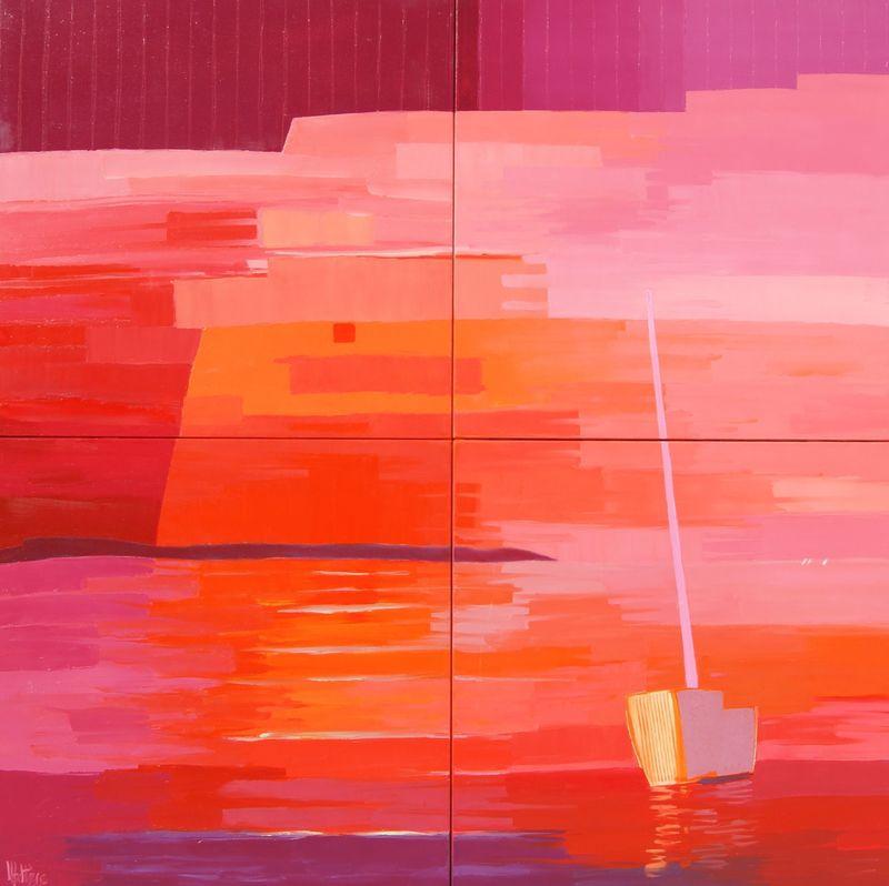 Jean-Pierre MALTESE - Painting - Grande marine rouge