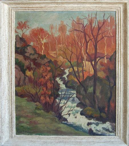 Émile ROUSTAN - Painting - Le Ruisseau