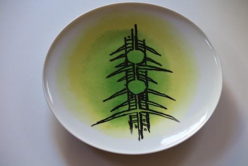 """Wifredo LAM - Ceramic - Porcelana di Albisola - 12"""" plate"""