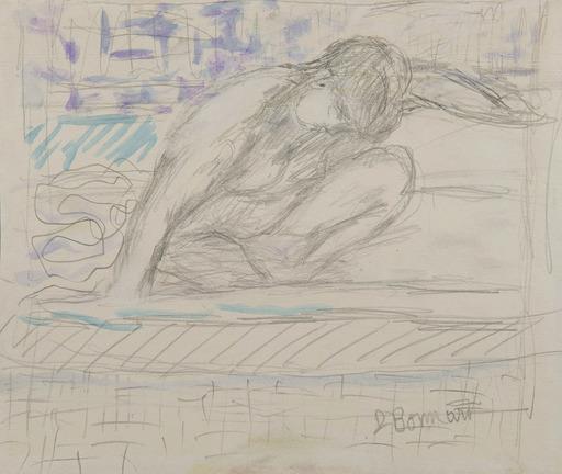 Pierre BONNARD - Drawing-Watercolor - Nu accroupi