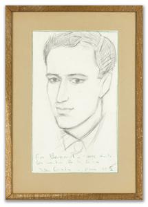 John CRAXTON - Disegno Acquarello - Portrait of Bernard Minoret