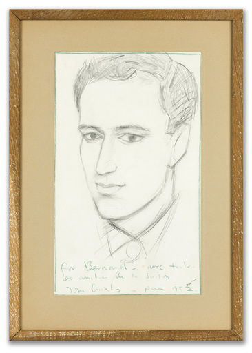 John CRAXTON - Drawing-Watercolor - Portrait of Bernard Minoret