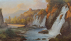 Henry MARKO - 绘画 - Paesaggio fluviale