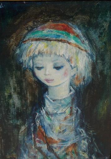Henri LAVILLE - 绘画 - Jeune fille