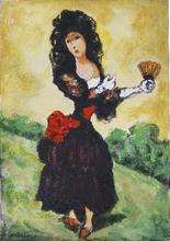 Domenico CANTATORE - Painting - Figura femminile - da Goya
