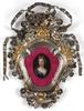 "Carlo MARATTI - Gemälde - ""Princess Olympia"", oil miniature in silver baroque frame"