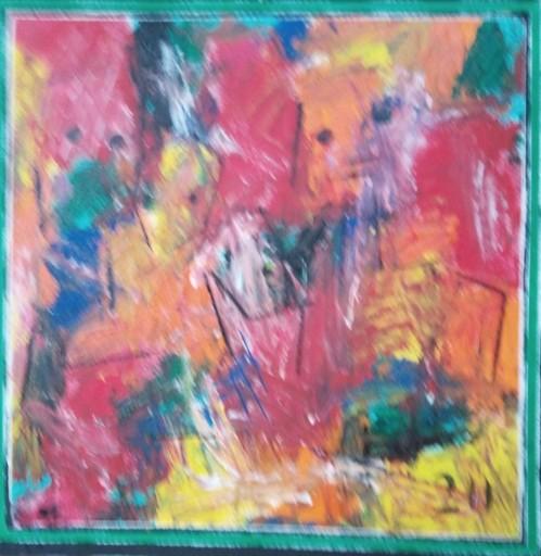 Harry BARTLETT FENNEY - Painting - deja #3 (en famille avec le petit chien)