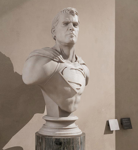 Léo CAILLARD - Sculpture-Volume - Superman