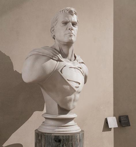 Léo CAILLARD - Scultura Volume - Superman