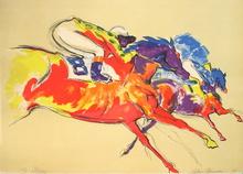LeRoy NEIMAN - Print-Multiple - Horse race