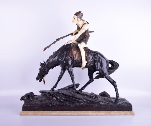 Edouard DROUOT - Sculpture-Volume - Untitled (Native on Horse)