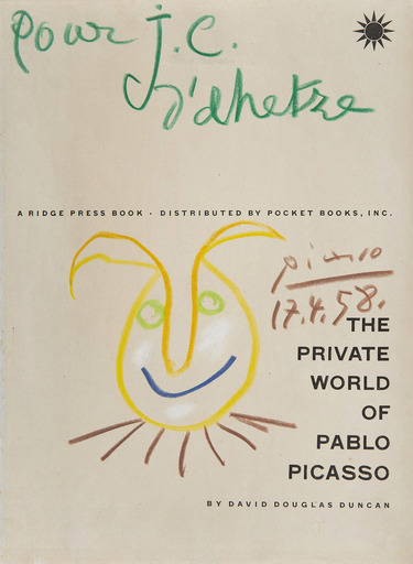 Pablo PICASSO - Drawing-Watercolor - Tête de faune