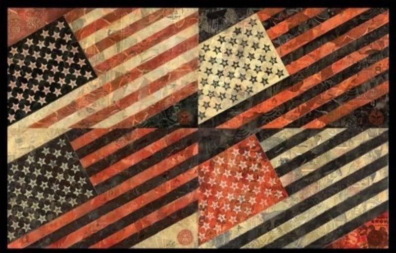 "Shepard FAIREY - Estampe-Multiple - ""Mayday Flag"""