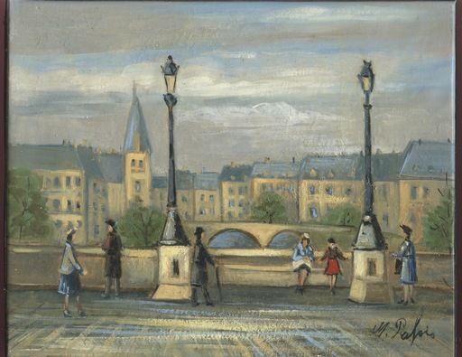 Michel PABOIS - 绘画 - HUILE / TOILE SIGNÉE HANDSIGNED OIL PAINTING Pont Neuf