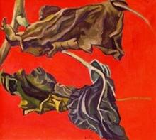 Renato GUTTUSO - Painting - Foglie di Girasole