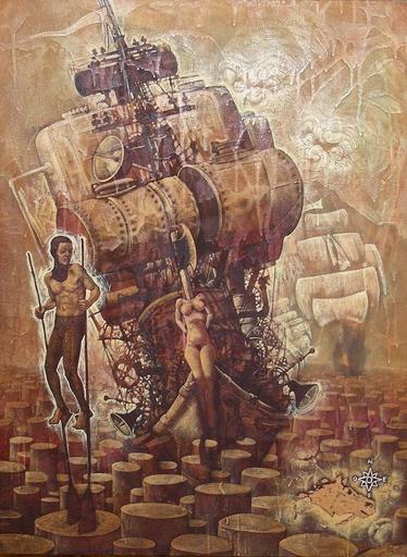 Victor HUERTA BATISTA - Pintura - La barca y la dama