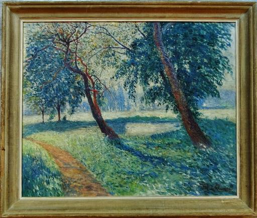 Pierre THOMAS - Peinture - Paysage à la mare près de Limoges