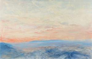 Peter MÖBUS - Gemälde - Sonnenuntergang an der See