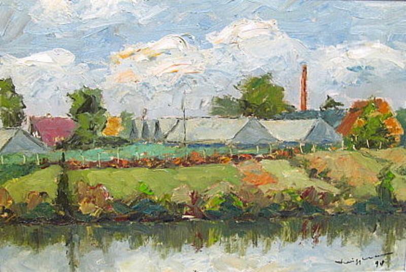 Walter BRÜGGMANN - Painting - An der Dove-Elbe bei Curslack.