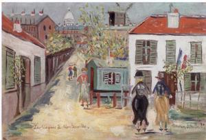 Maurice UTRILLO - Peinture - Le Maquis à Montmartre