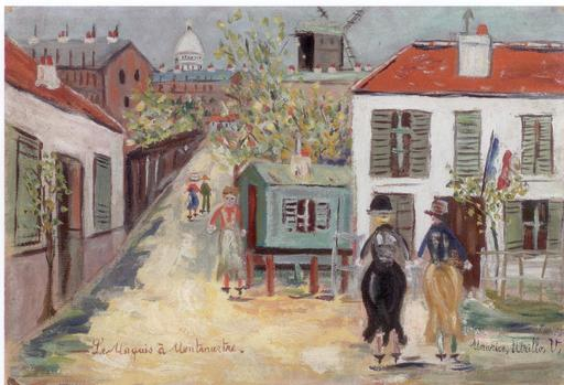 Maurice UTRILLO - Painting - Le Maquis à Montmartre